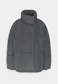 BDG Urban Outfitters - WRAP PUFFER - Winter jacket - charcoal - 4
