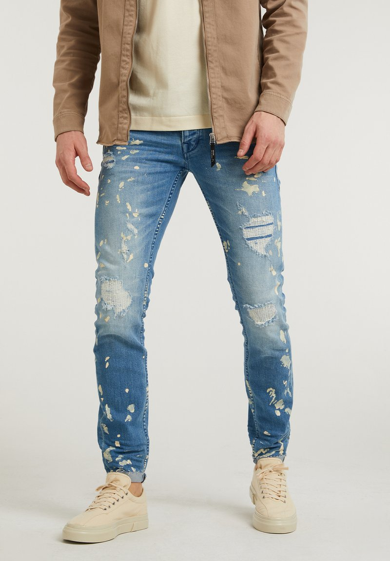 CHASIN' - EGO ZYON - Slim fit jeans - blue