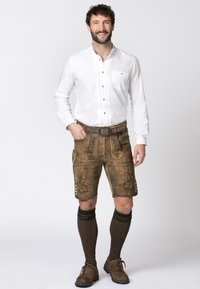 Stockerpoint - WIGGAL - Leather trousers - beige - 1