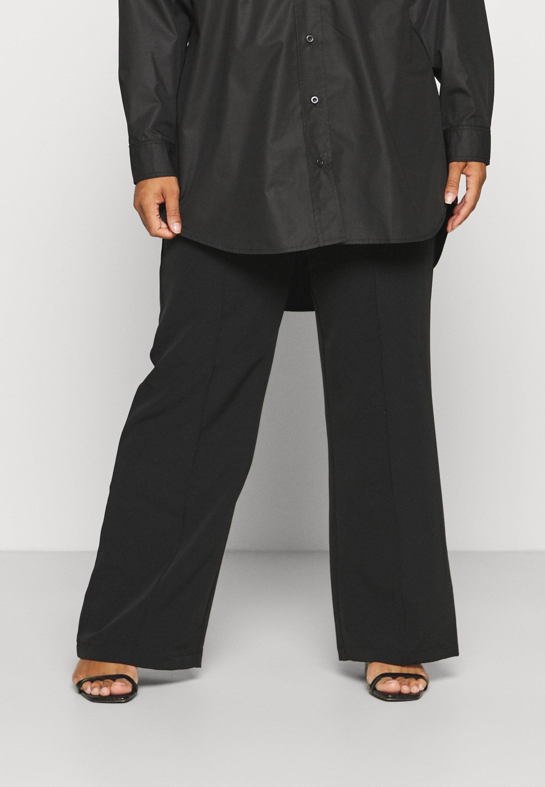 Women PCBOSSY WIDE PANTS - Trousers