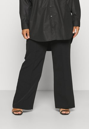 PCBOSSY WIDE PANTS - Broek - black