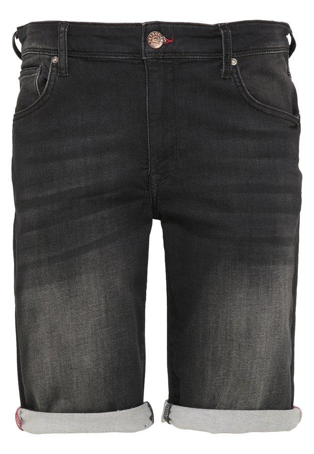 SHORTS - Shorts vaqueros - black stone
