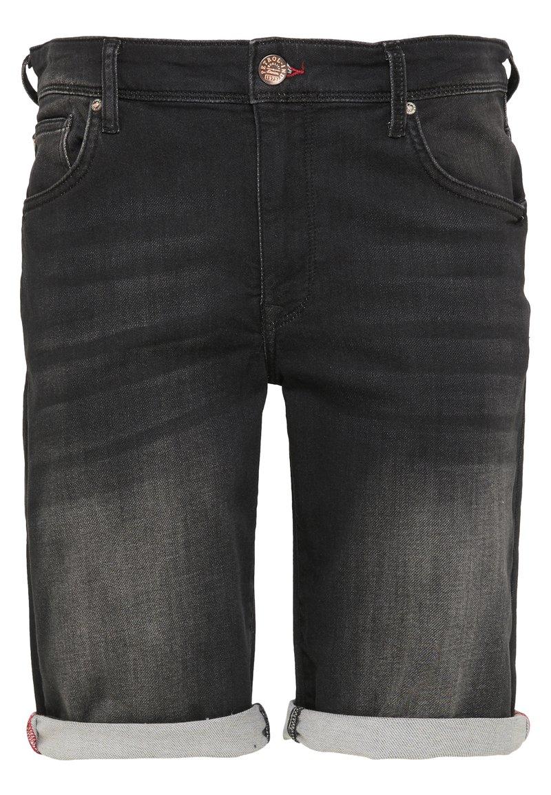 Petrol Industries - SHORTS - Denim shorts - black stone