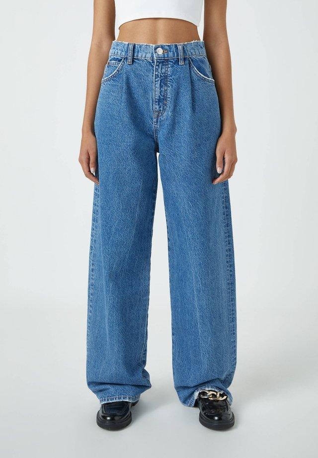 Široké džíny - blue