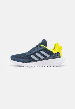 TENSAUR RUN UNISEX - Neutral running shoes - crew navy/halo silver/acid yellow