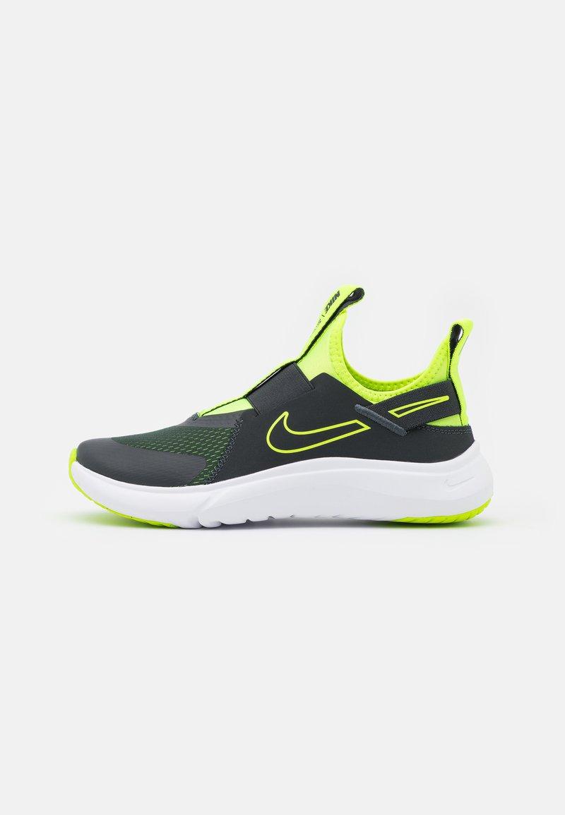 Nike Performance - FLEX PLUS UNISEX - Neutral running shoes - dark smoke grey/volt/white
