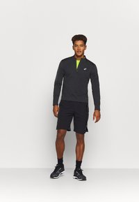 ASICS - ICON WINTER ZIP - Long sleeved top - performance black/carrier grey - 1