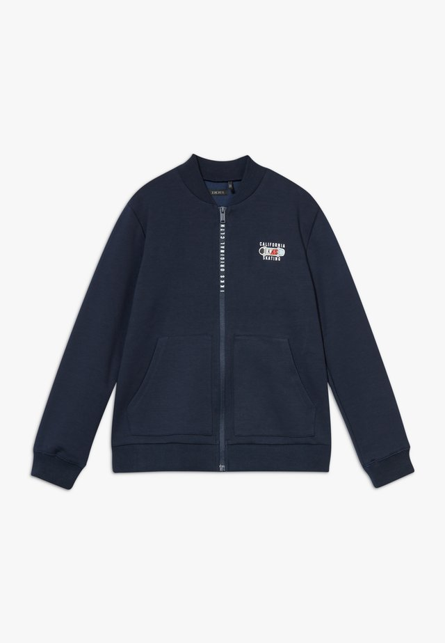 CARDIGAN - veste en sweat zippée - navy