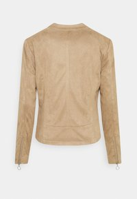 Freequent - Faux leather jacket - beige sand - 1