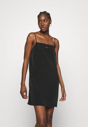 MONOGRAM CAMI SLIP DRESS - Day dress - black
