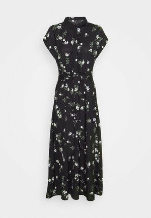 VMFALLIE LONG TIE DRESS - Robe chemise - black