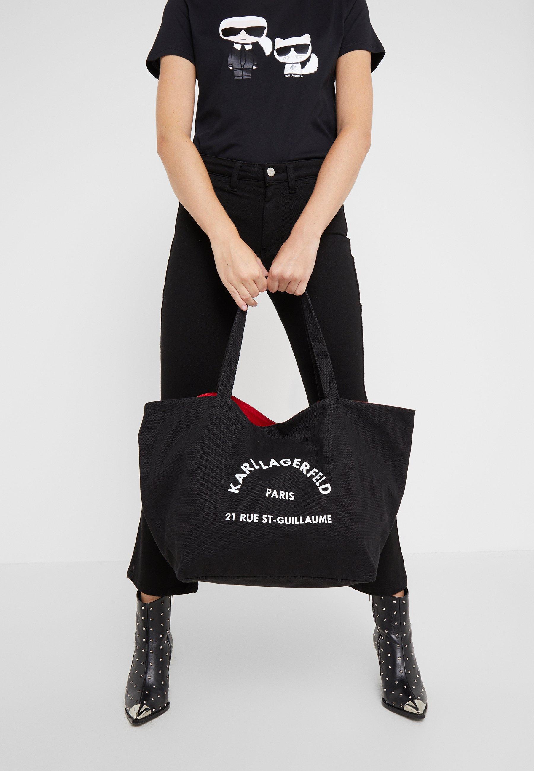 KARL LAGERFELD RUE ST GUILLAUME TOTE Shoppingveske black