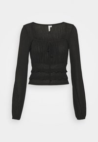 Nly by Nelly - SHEER TIE - Long sleeved top - black - 0