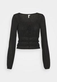 SHEER TIE - Long sleeved top - black
