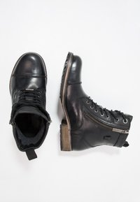 Pepe Jeans - MELTING ZIPPER NEW - Lace-up ankle boots - black - 1