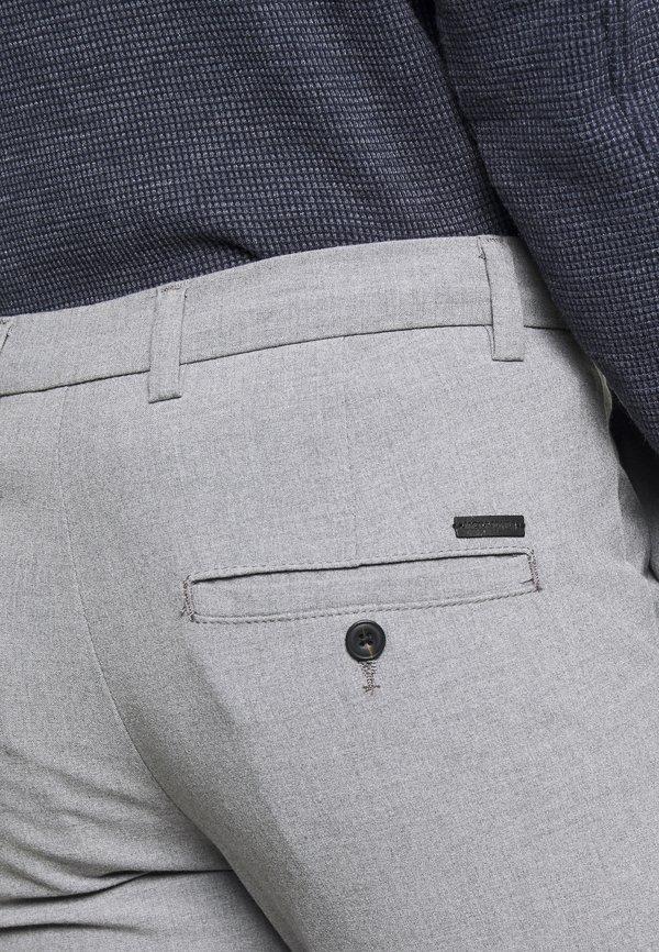 Jack & Jones JJIMARCO JJCONNOR - Spodnie materiałowe - grey melange/szary Odzież Męska CRAG
