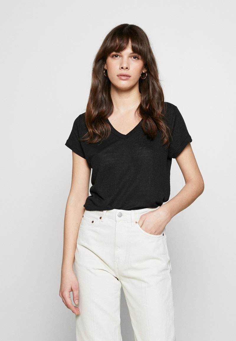 Banana Republic - VEE TEE SOLIDS - Basic T-shirt - black