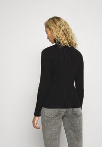 Marc O'Polo - LONGSLEEVE TURTLE NECK STRUCTURE - Svetr - black - 2