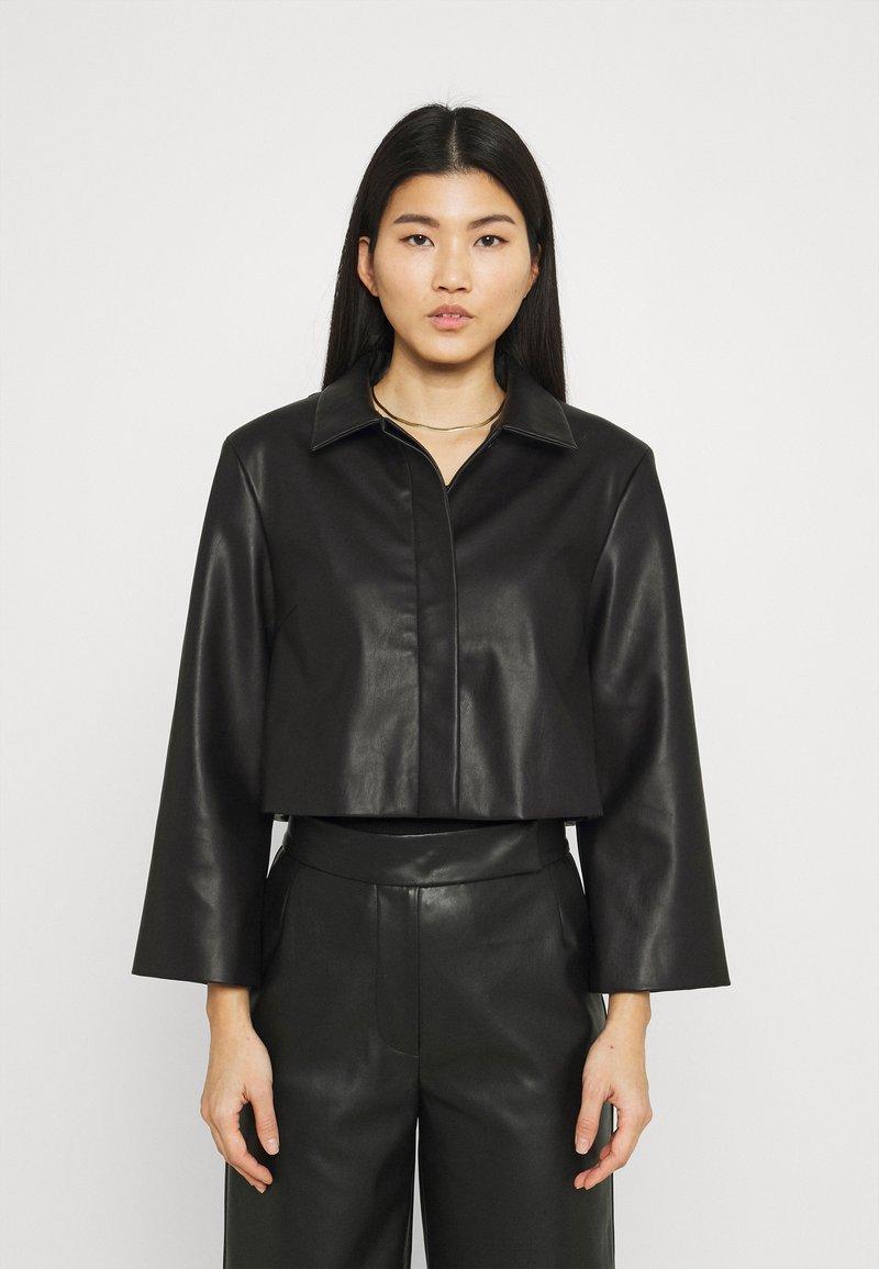 Stylein - VEREL - Faux leather jacket - black