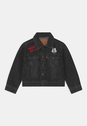 MICKEY MOUSE TRUCKER UNISEX - Kurtka jeansowa - washed black