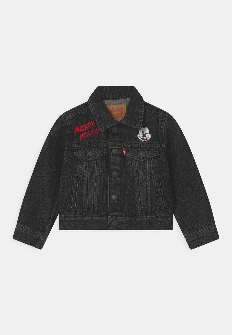 Levi's® - MICKEY MOUSE TRUCKER UNISEX - Denim jacket - washed black