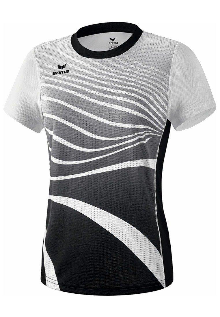 Erima - T-SHIRT DAMEN - Print T-shirt - schwarz / weiß