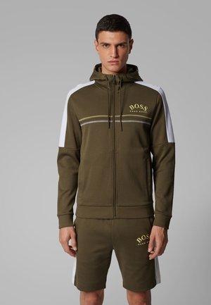 SAGGY - Zip-up hoodie - dark green