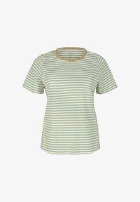 mint green white stripe
