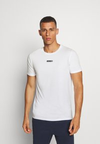 Jack & Jones Performance - JCOZSS TEE SLIM FIT 2 PACK - Basic T-shirt - black/white - 1