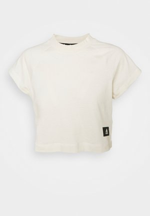 RECCO CROP TEE - Print T-shirt - off white