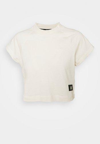 RECCO CROP TEE - Print T-shirt - off white