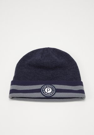 CIRCLE PATCH BEANIE - Čepice - peacoat