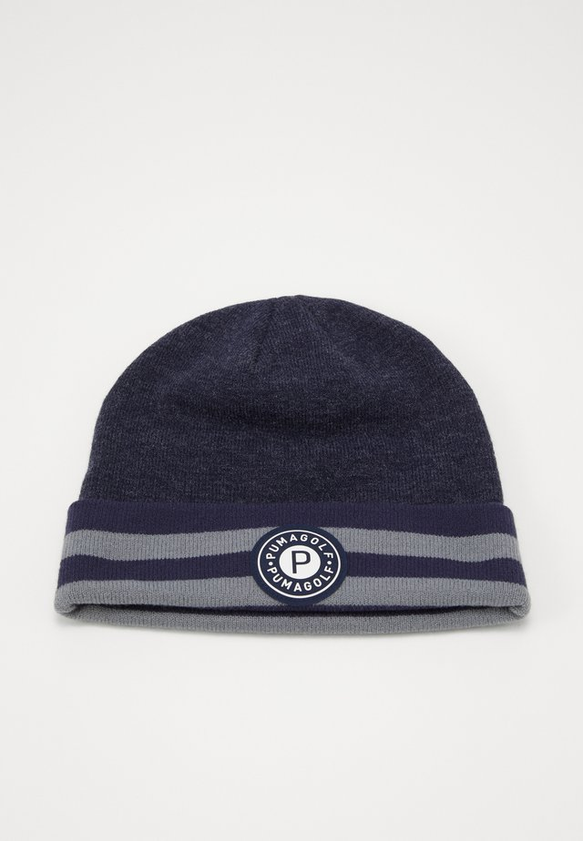 CIRCLE PATCH BEANIE - Lue - peacoat