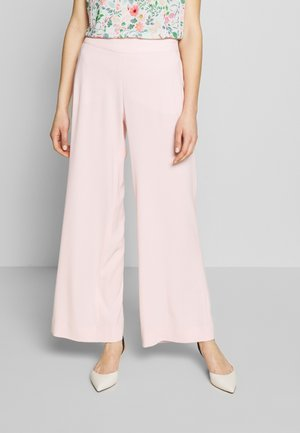 WIDE FIT - Trousers - powder