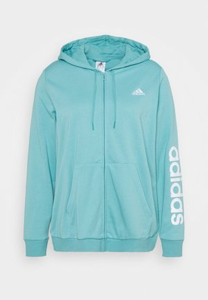 LINEAR FULL ZIP HD SPORTS ESSENTIALS TRACK TOP HOODIE - Sweater met rits - mint ton/white