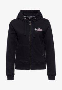 Queen Kerosin - Zip-up hoodie - schwarz - 0