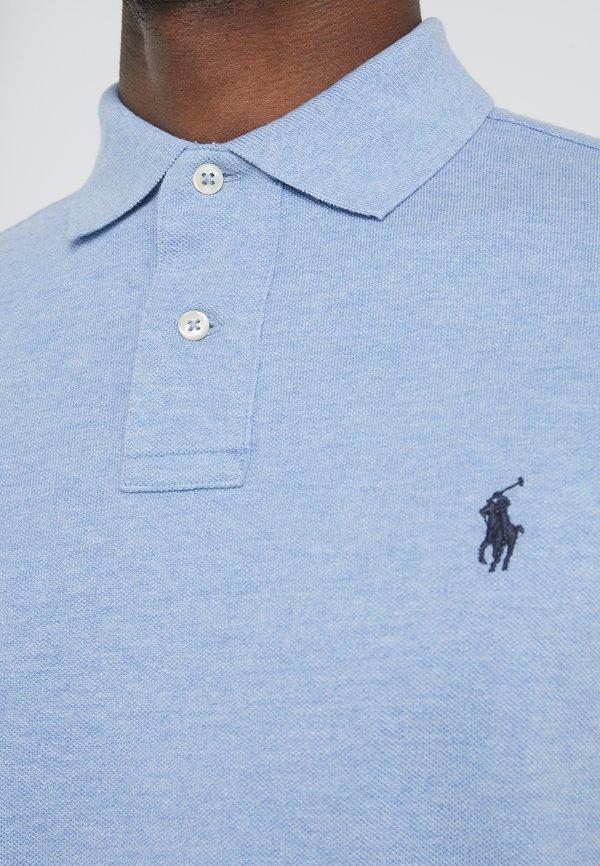 Polo Ralph Lauren SLIM FIT - Koszulka polo - jamaica heather/jasnoniebieski melanż Odzież Męska BUCW
