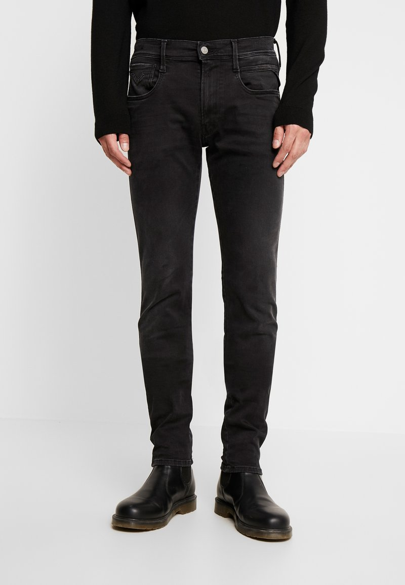 Replay - ANBASS HYPERFLEX CLOUDS - Slim fit jeans - black