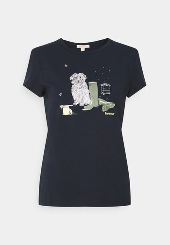 ROWEN TEE - Print T-shirt - navy