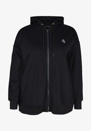 Zip-up sweatshirt - black move