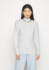 Anna Field - BASIC-PERKIN NECK - Jumper - mottled light grey - 0