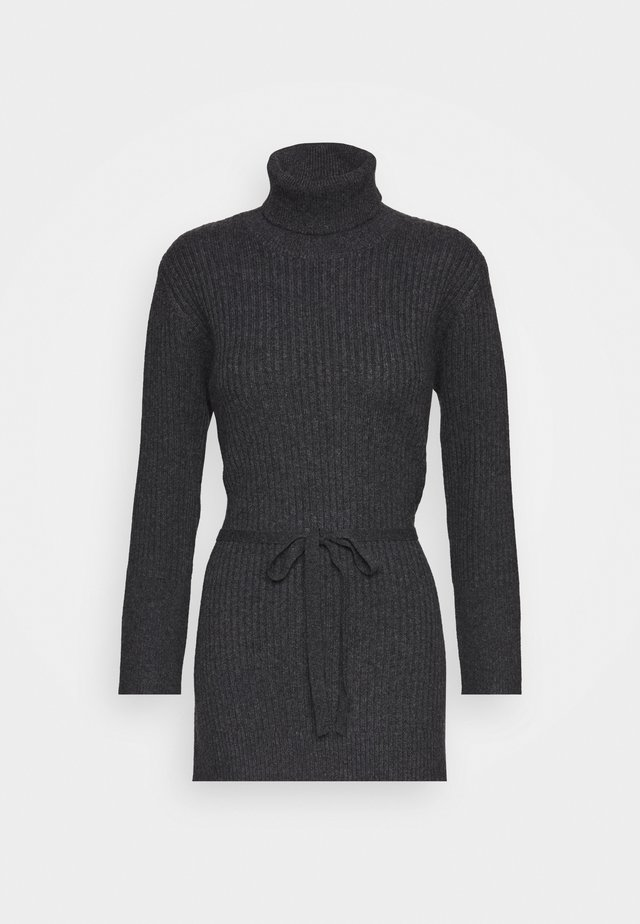 LONG TURTLENECK - Trui - graphite