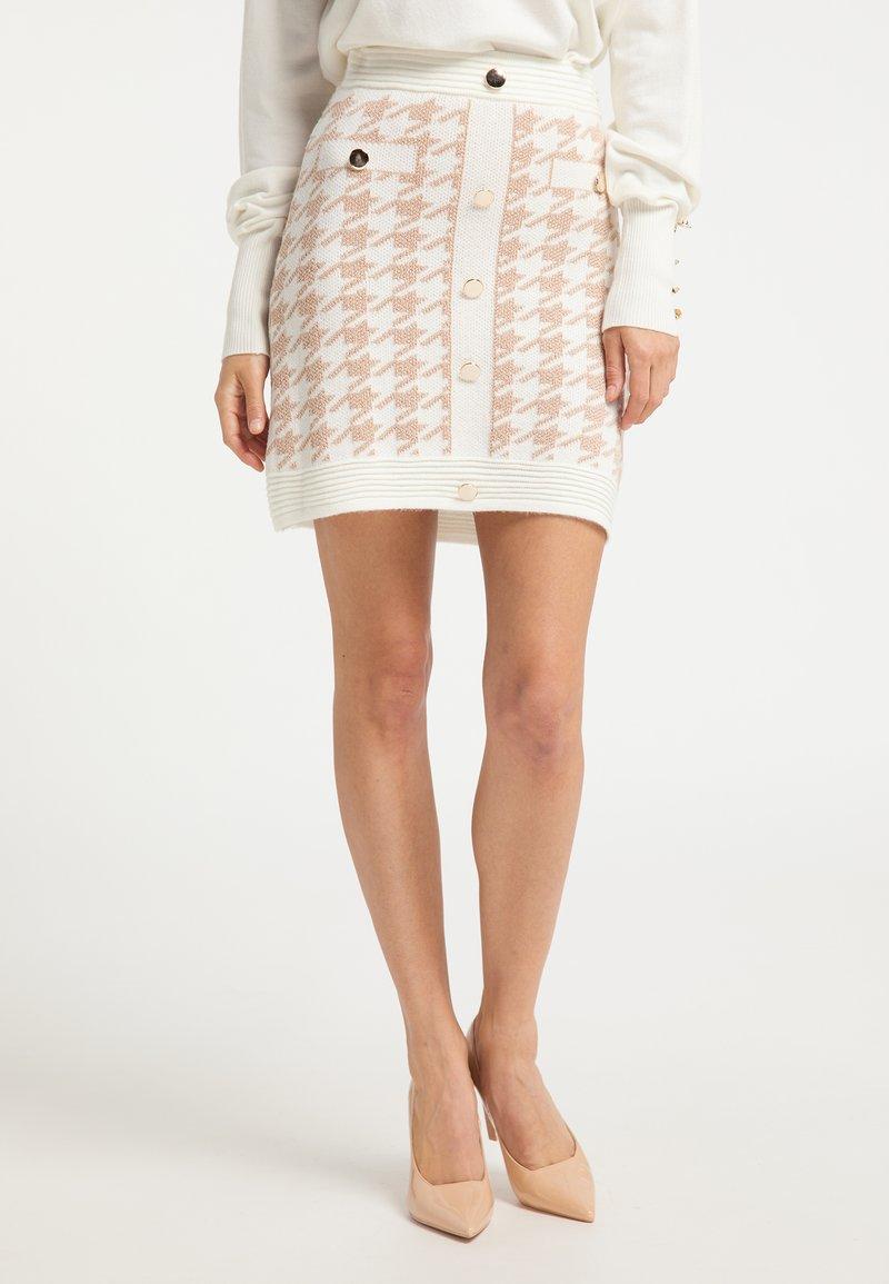 faina - A-line skirt - weiss beige