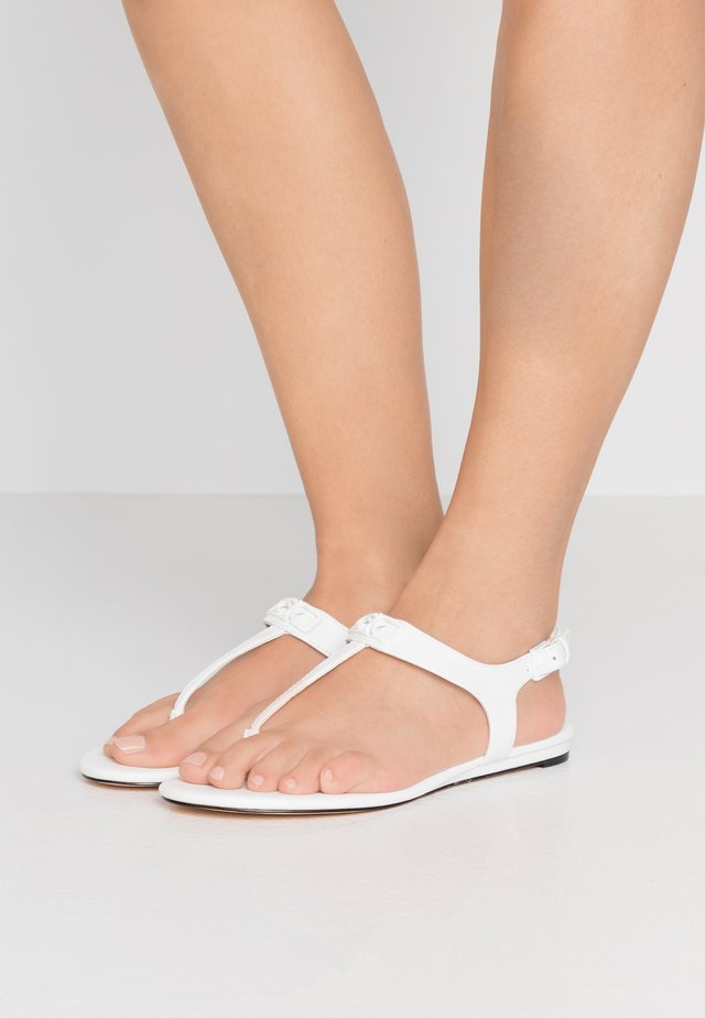 SHAMARY - T-bar sandals - white