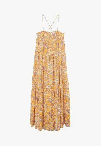 MIT RÜSCHEN - Maxi dress - geel