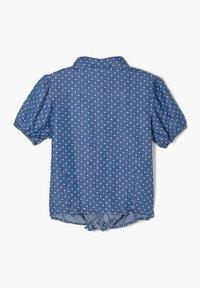 s.Oliver - MET GEKNOOPT DETAIL - Button-down blouse - dark blue - 1