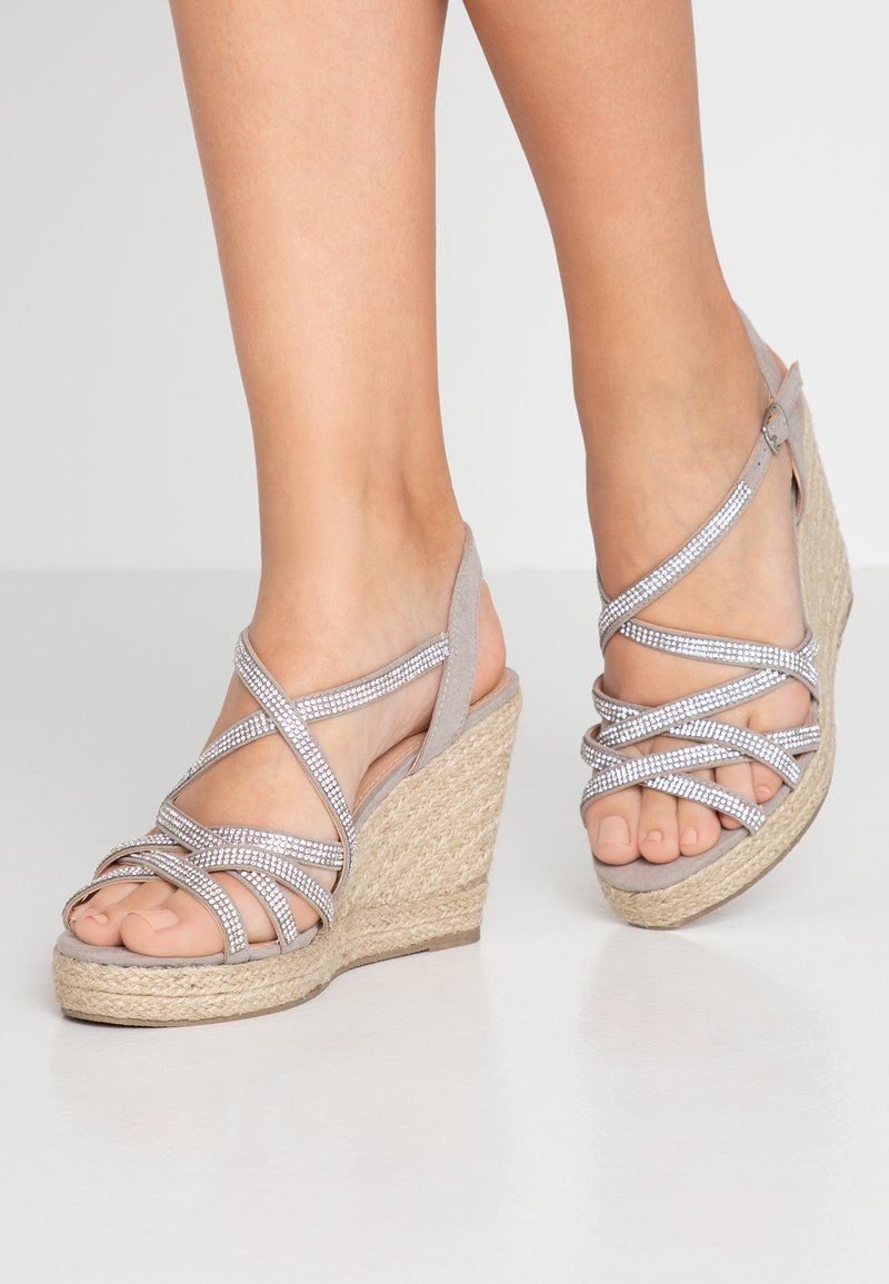 New Look Wide Fit - WIDE FIT OSPARKLE - High heeled sandals - mid grey