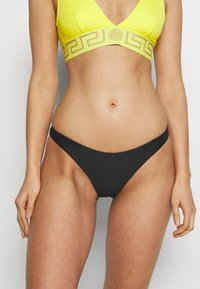 Tommy Hilfiger - SOLIDS CHEEKY HIGH LEG - Bikini bottoms - black - 0