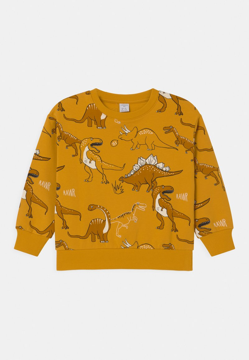Lindex - MINI DINO UNISEX - Sweatshirt - dark dusty yellow