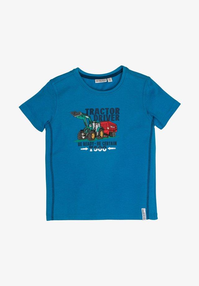 Print T-shirt - pacific blue